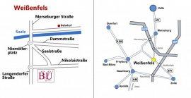 Stadtplan und Übersichtskarte WSF